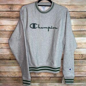 Champion Spell Out Reverse Weave Crew Sweatshirt